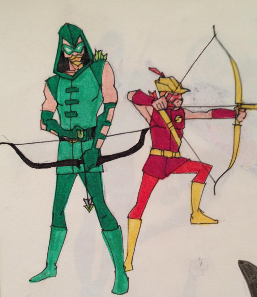 Sidekicks - Green Arrow and Speedy by waterbuffalo62 on DeviantArt Green Arrow And Speedy Wallpaper