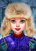 winter girl by Busyashka