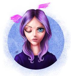 anime portrait by Busyashka