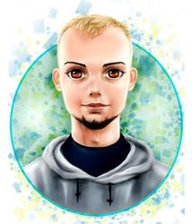 anime portrait (boy) by Busyashka