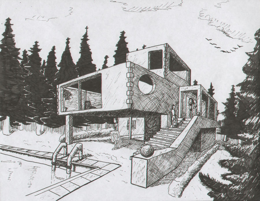 House sketch by alexanderhenderson on deviantart for House sketches from photos
