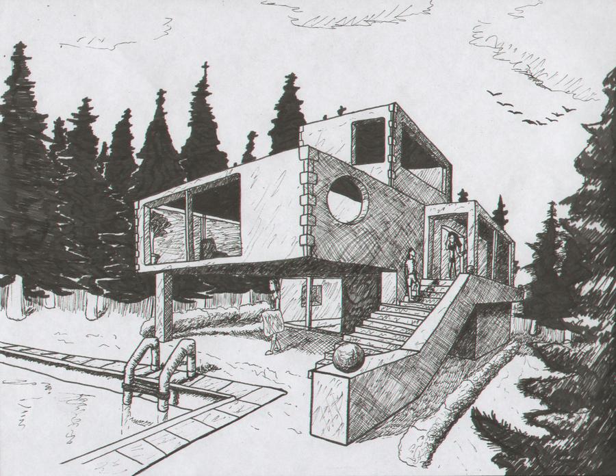 House Sketch By Alexanderhenderson On Deviantart