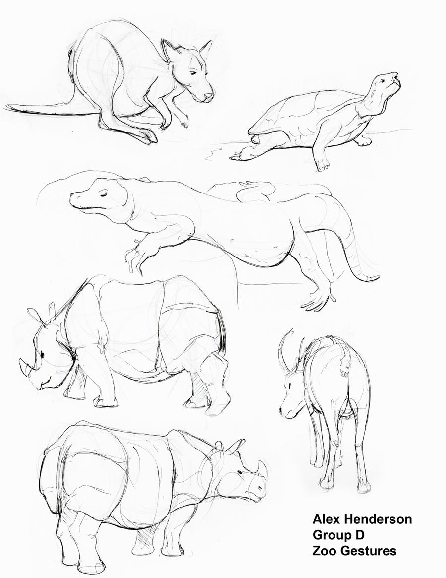 zoo animals gestures page 3 by alexanderhenderson on deviantart