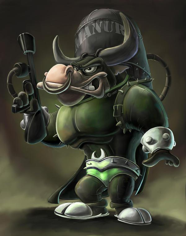Supervillain Bull by AlexanderHenderson