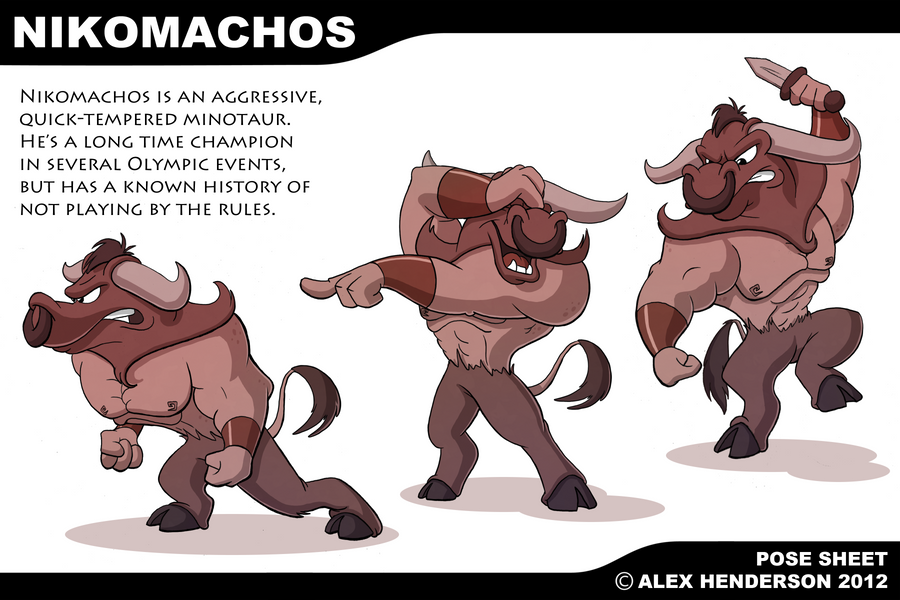 Nikomachos Model Sheet by AlexanderHenderson