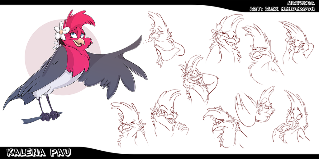 Commission - Kalena Pau Sketch Page by AlexanderHenderson