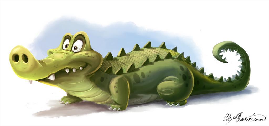 Crocodile Doodle by AlexanderHenderson