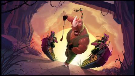 The Rhino and the Oxpecker - KICKSTARTER by AlexanderHenderson