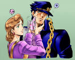Holly and Jotaro - JJBA by maiyeng