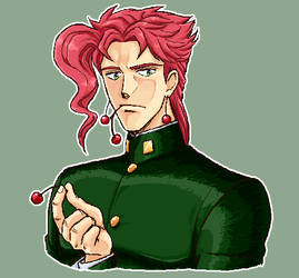JJBA - Kakyoin x Cherries by maiyeng