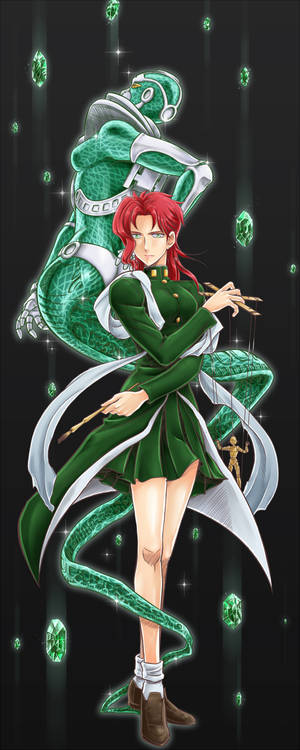 Fem!Kakyoin and Hierophant Green