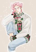 Kakyoin - Christmas Sweater by maiyeng