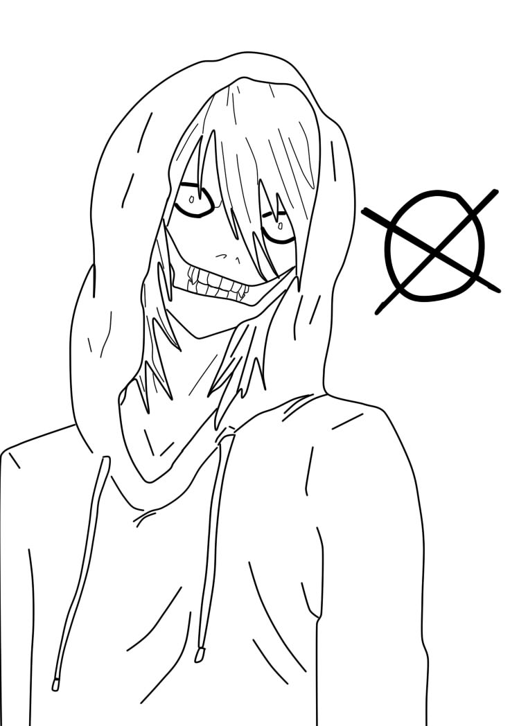 jeff the killer coloring pages