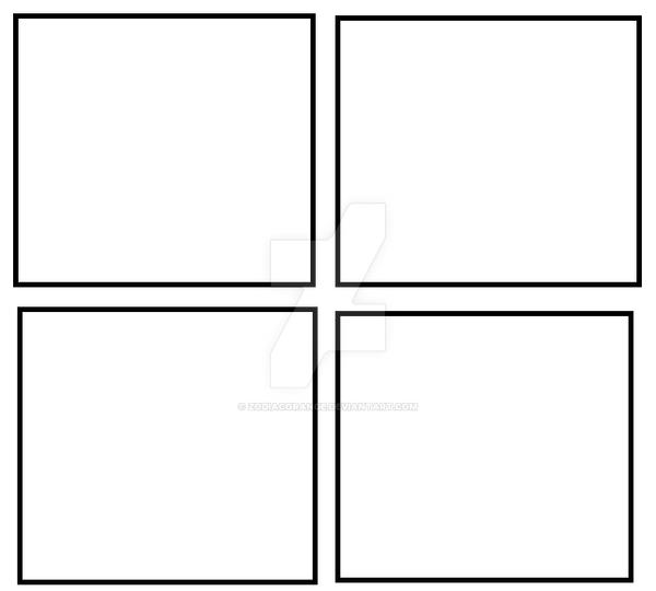 freshmen comic 4 panel template by zodiacorange on deviantart