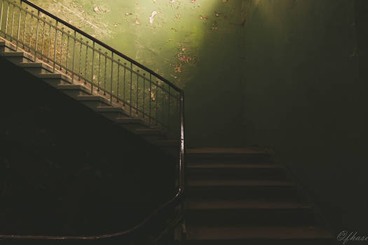 green stairs lead to nowhere
