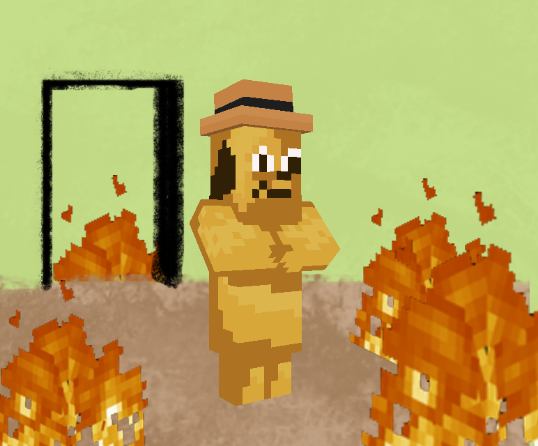 this is fine Minecraft Mob Skin