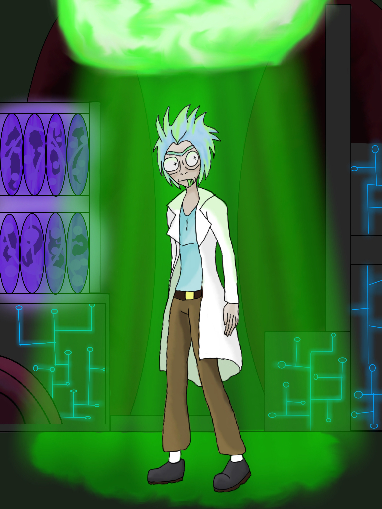 Rick and Morty: Rick by fmawolfbroalchamist