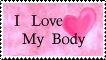 I Love My Body Stamp by Yokaru