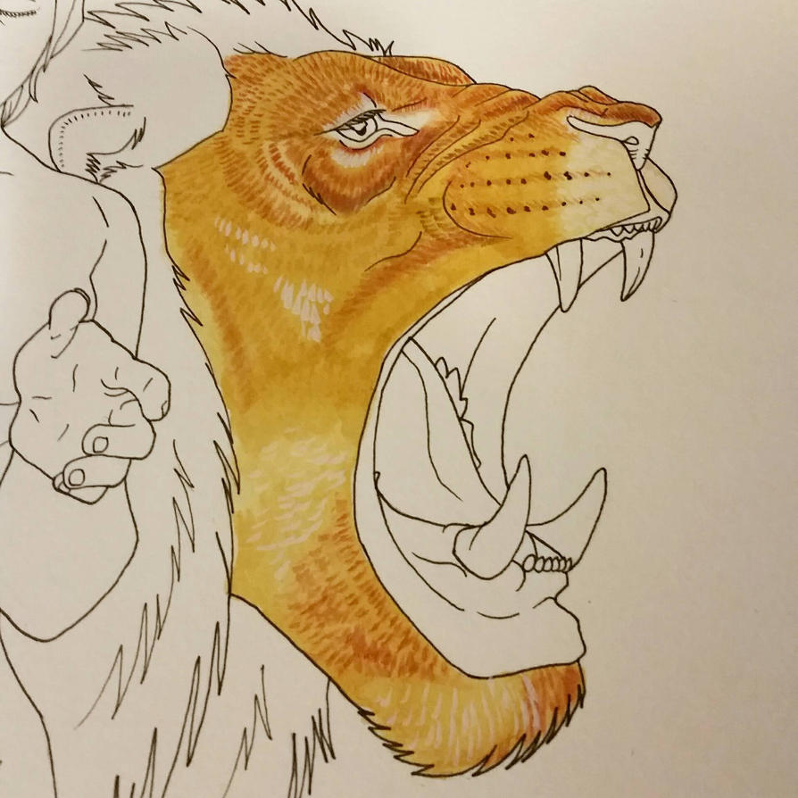 Lion-hearted wip  by Harbinger-of-Rage