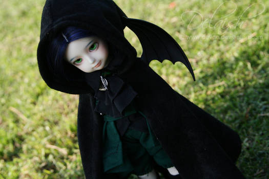 Vampire prince wearing a cape