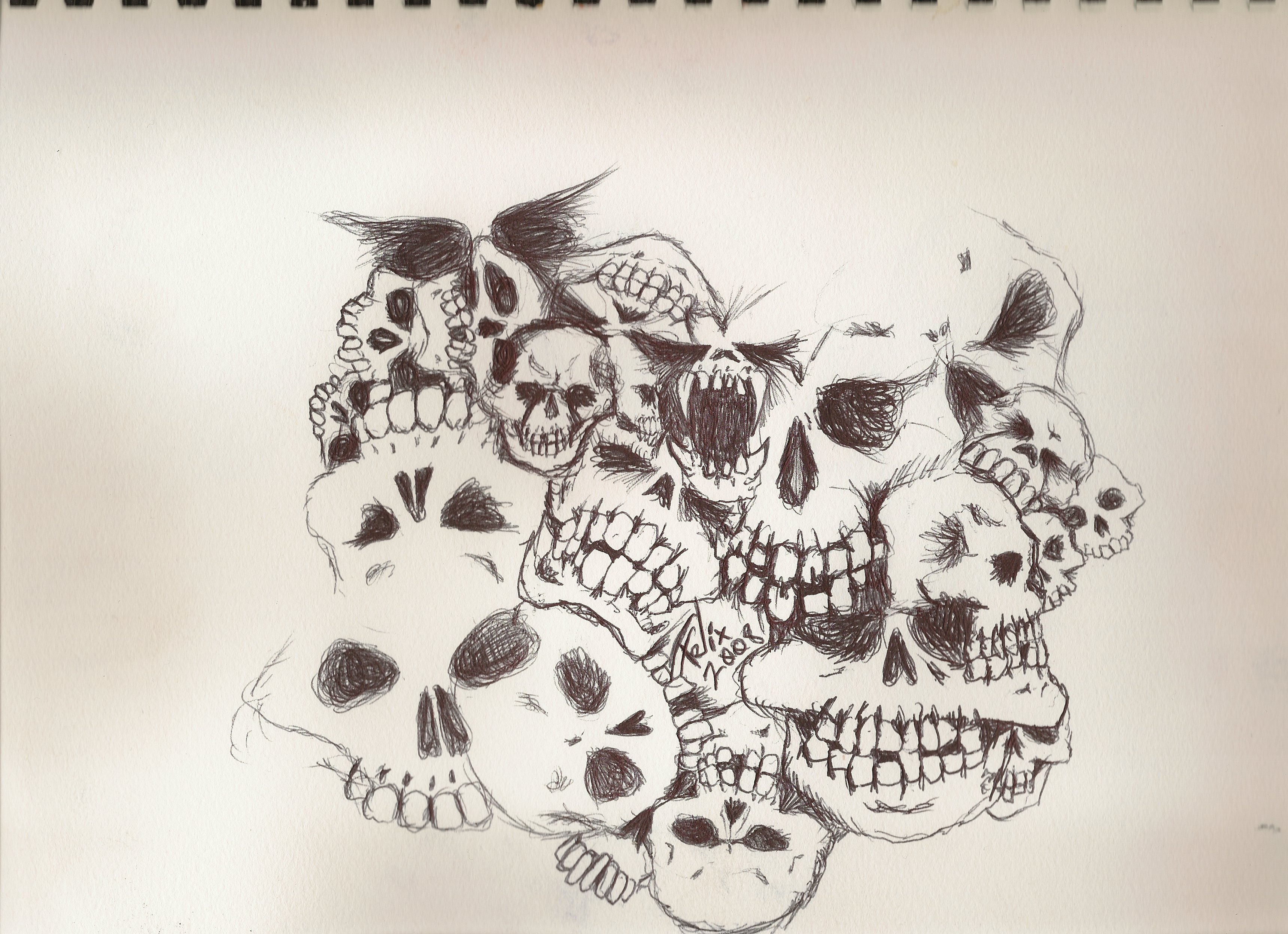 skulls again by theFATpirate