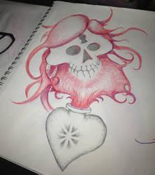 SkullSacredHeart by theFATpirate