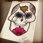 Sugar skull sketch
