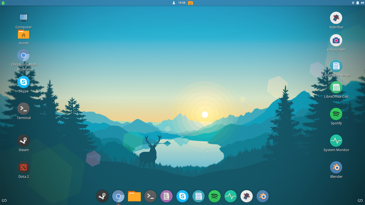 my linux mint desktop late february 2017 by llnuxlover983