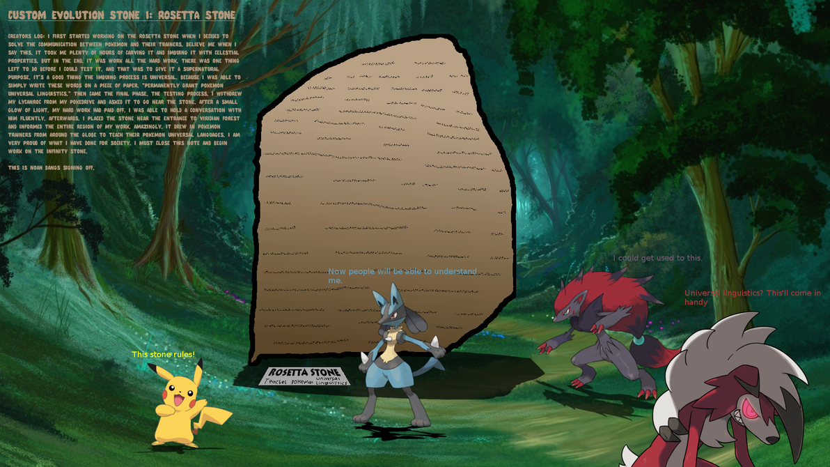 Pokemon: Custom Evolution Stone - Rosetta Stone by StarWars888