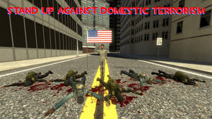 Anti Domestic-Terrorism Poster