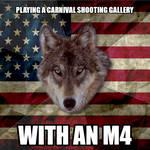 Patriotic Wolf - M4 Shooting Gallery