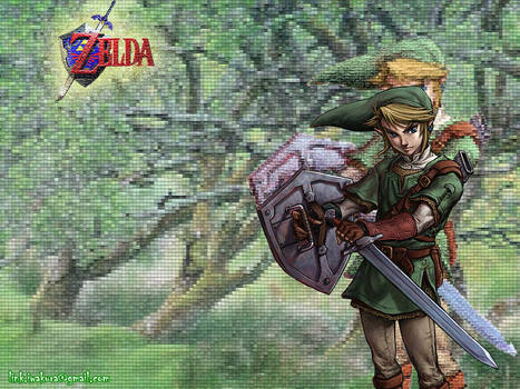 Link at forest