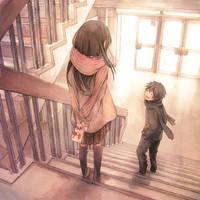 Anime Background Cute Love by KingOtaku