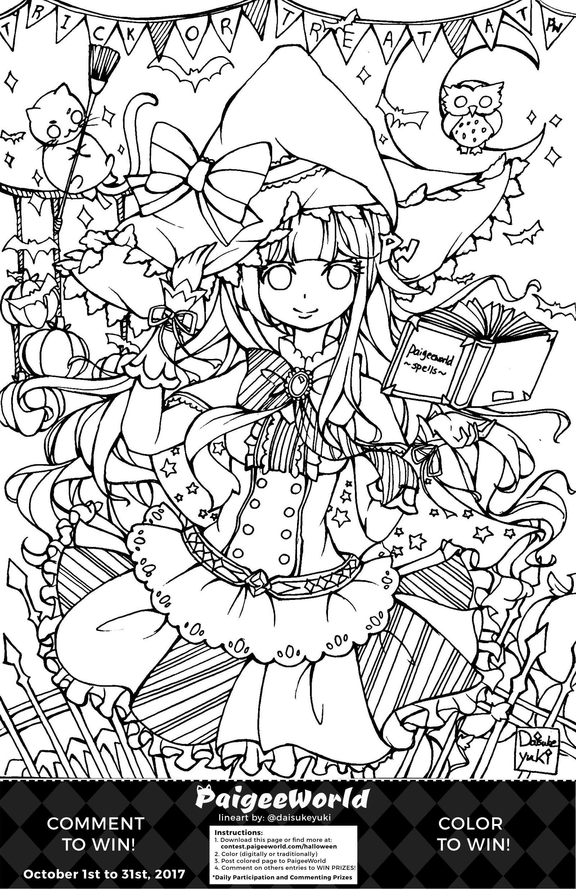Coloring pages for halloween coloring contest - Paigeeworld Halloween Coloring Page By Paigeedraw Paigeeworld Halloween Coloring Page By Paigeedraw
