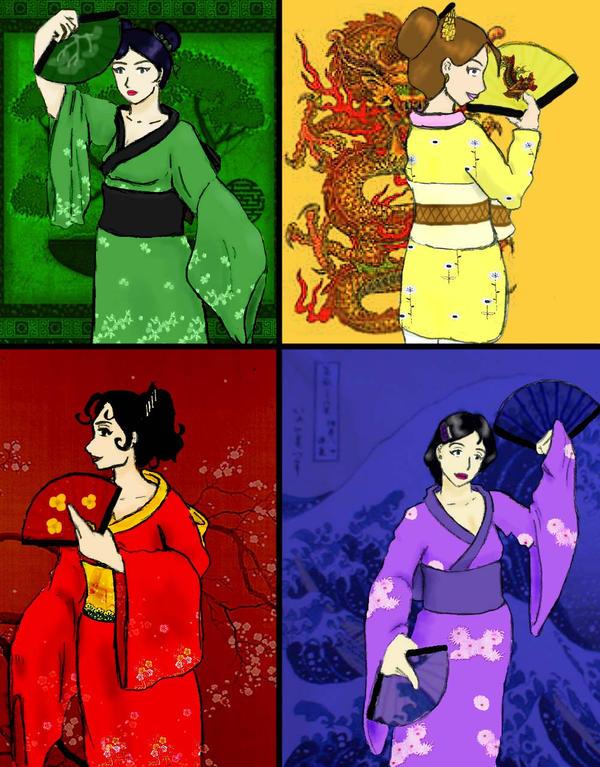 Geisha four by wee neko girl