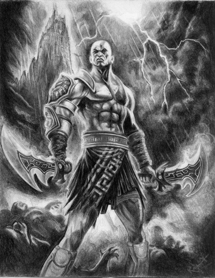 Kratos God Of War 2 By Adler666gabo On Deviantart
