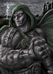 Fan Art Dr. Doom Marvel by spikybib