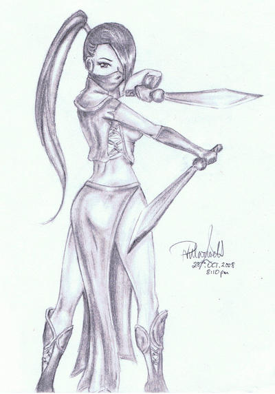 Female ninja by animepatty