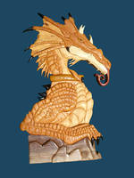 Bronze Dragon by FrogPond