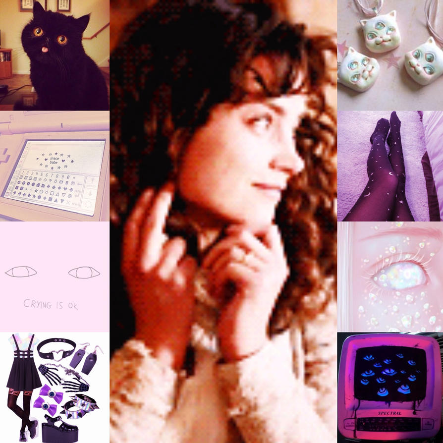 Lolotte aesthetic collage 1 WIP by HBCfanAlex