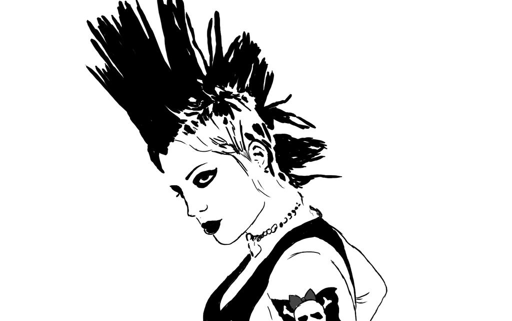 Brody Dalle (inked) by Miss-MurderShy