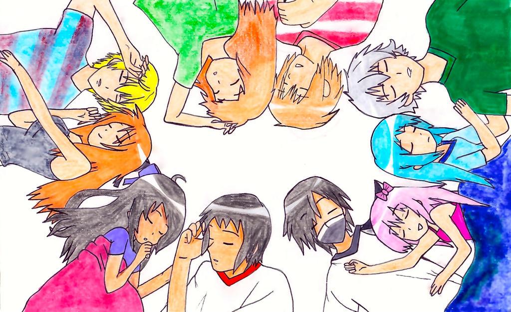 My Street, Aphmau and Friends Sleeping by GamerStunner27