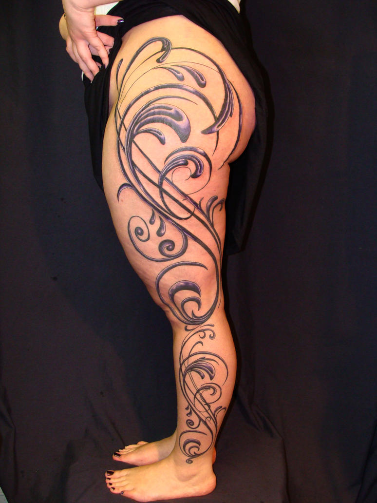 vector leg sleeve - sleeve tattoo