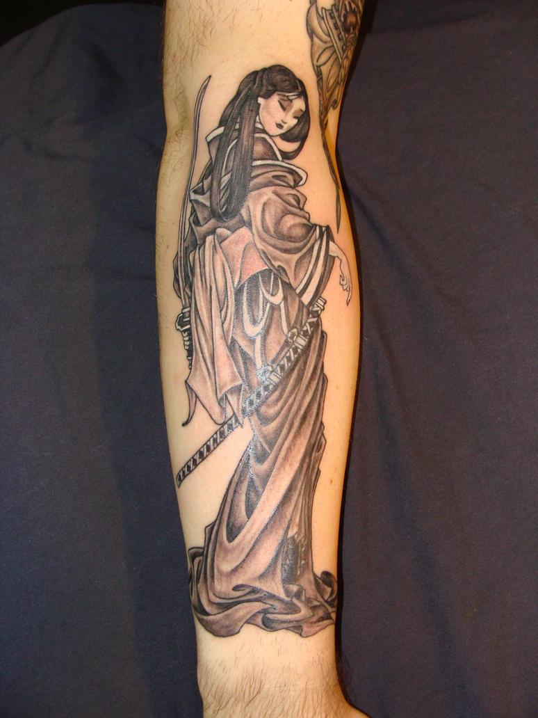 Geisha - sleeve tattoo