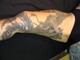 Phoenix on inner thigh by danktat