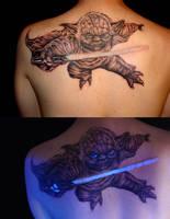 Yoda portrait tattoo by danktat