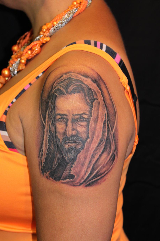 Jesus Christ tattoo 2nd day