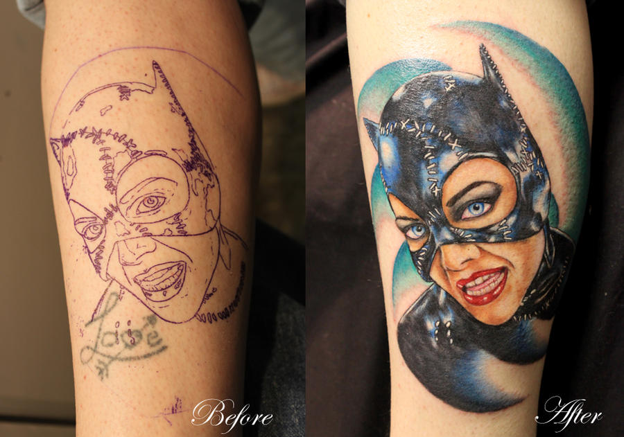 Cat woman tattoo pic and vid for Cat lady tattoo