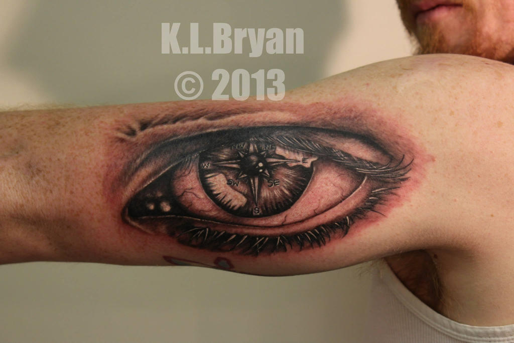 Compass eye tattoo by danktat on deviantart for Eye tattoo art