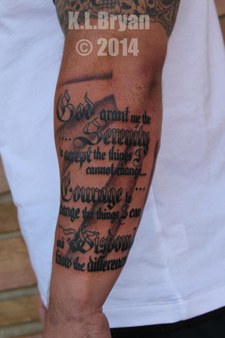 serenity prayer tattoo by danktat on deviantart. Black Bedroom Furniture Sets. Home Design Ideas